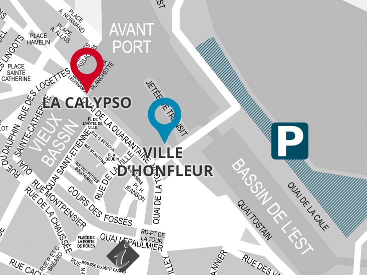 Plan des embarcadères Calypso jolie France